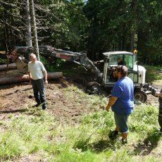 Alpkogelhütte – Baggerarbeiten für die neue Ausschank