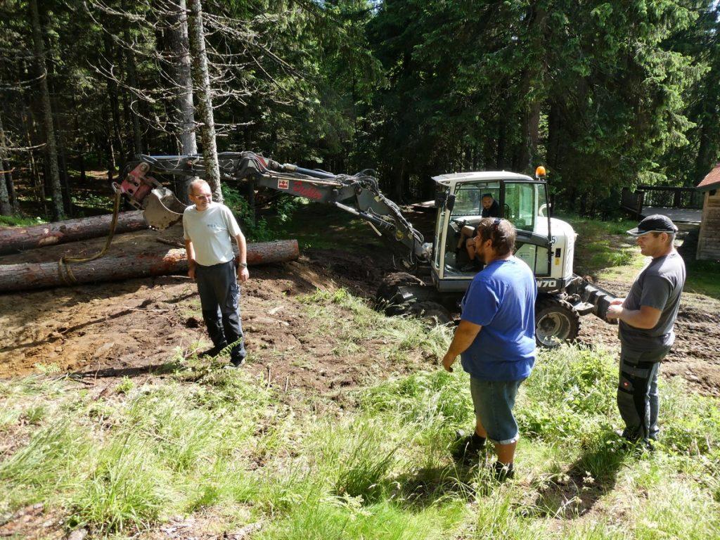 Alpkogelhütte - Baggerarbeiten für den Bau der neuen Ausschank