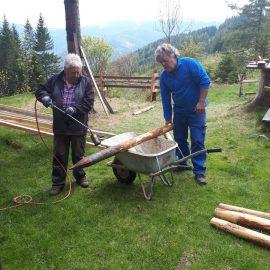 Arbeitseinsatz Alpkogelhütte