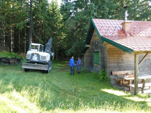 OeTK-Neunkirchen-Alpkogelhütte Baggerarbeiten 20190621-005