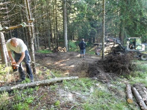 OeTK-Neunkirchen-Alpkogelhütte Baggerarbeiten 20190621-019