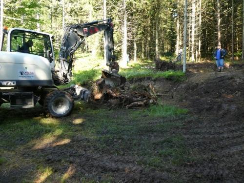 OeTK-Neunkirchen-Alpkogelhütte Baggerarbeiten 20190621-021